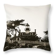 Point Pinos Lighthouse Throw Pillow