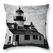 Point Pinos Pacific Grove Lighthouse Throw Pillow