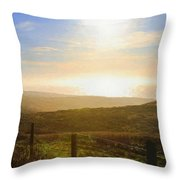 Point Reyes Evening Landscape  Throw Pillow