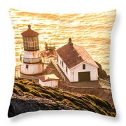 Point Reyes Lighthouse 2 Throw Pillow