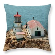 Point Reyes Lighthouse II Throw Pillow