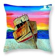 Point Reyes Wreck D2 Throw Pillow