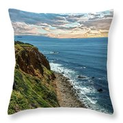Point Vincente Lighthouse Throw Pillow