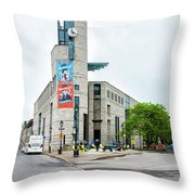 Pointe A Calliere Museum Throw Pillow