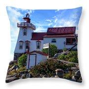 Pointe Au Baril Lighthouse Throw Pillow