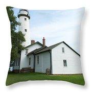 Pointe Aux Barques Throw Pillow