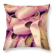 Pointe Shoes Throw Pillow