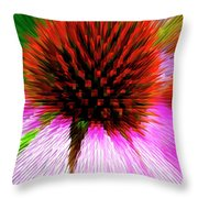 Pointed Flower Throw Pillow
