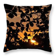 Pointed Shadow Throw Pillow