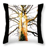Pointillised Tree Throw Pillow