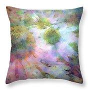 Pointillism Coneflowers 3571 Idp_3 Throw Pillow