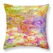 Pointillist Colour Throw Pillow