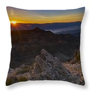 Pointing At The Sun Throw Pillow