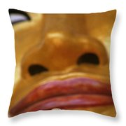Pointing Buddha Throw Pillow