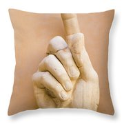 Pointing Finger, Statue Of Constantine, Rome, Italy Throw Pillow