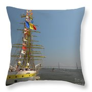 Pointing North Throw Pillow