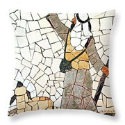 Pointing To The Star Throw Pillow