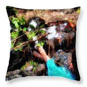 Pointing To Turtles Throw Pillow