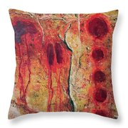 Points And Fingers Throw Pillow