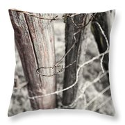 Points And Posts Throw Pillow