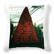 Pointsettia Tree Throw Pillow