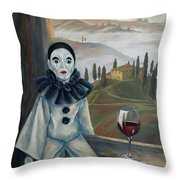 Poirrot In Tuscany Throw Pillow