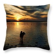 Poised For Action Throw Pillow