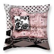 Poitrine Rose Throw Pillow