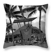 Pokai Bay Beach Park Throw Pillow
