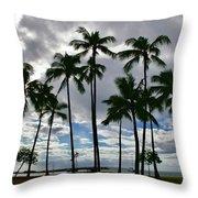 Poka'i Bay, Waianae, Hawaii  Throw Pillow