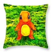 Pokemon Go Charmander - Da Throw Pillow