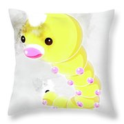 Pokemon Weedle Abstract Portrait - By Diana Van Throw Pillow