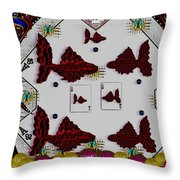 Poker Art Throw Pillow