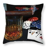 Poker Night Throw Pillow