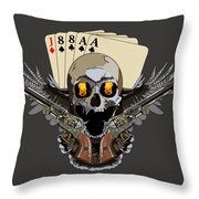 Poker Run Throw Pillow