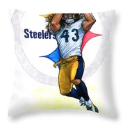 Polamalu  Throw Pillow