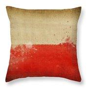 Poland Flag  Throw Pillow
