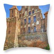 Poland, Torun, Building. Throw Pillow