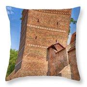 Poland, Torun, Crooked Tower. Throw Pillow