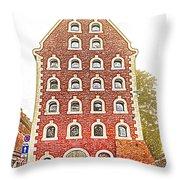 Poland, Torun, Warehouse. Throw Pillow