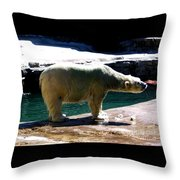 Polar Bear 3 Throw Pillow