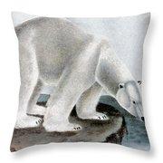 Polar Bear (ursus Maritimus) Throw Pillow