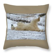 Polar Bear Yoga Throw Pillow