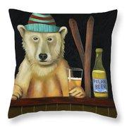 Polar Beer Throw Pillow