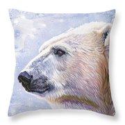Polar Blue Throw Pillow
