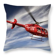 Polar First Helicopter Throw Pillow