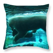 Polar Play Throw Pillow
