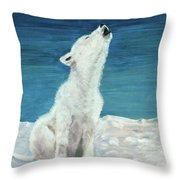 Polar Pup Throw Pillow
