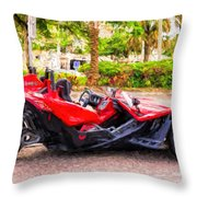 Polaris Slingshot Sl Tricycle Throw Pillow