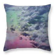 Polarized Caribbean Throw Pillow